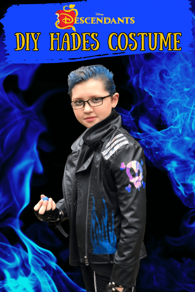 """<p>Break out the Cricut to add embellishments like a skull and blue flames to a faux leather jacket and your kiddo will nail the Lord of the Underworld's rocker look this Halloween.<strong><br></strong></p><p><strong>Get the tutorial at <a href=""""https://suburbanwifecitylife.com/diy-hades-costume/"""" rel=""""nofollow noopener"""" target=""""_blank"""" data-ylk=""""slk:Suburban Wife City Life"""" class=""""link rapid-noclick-resp"""">Suburban Wife City Life</a>.</strong></p><p><a class=""""link rapid-noclick-resp"""" href=""""https://www.amazon.com/Skeleteen-Fingerless-Faux-Leather-Gloves/dp/B087Z6F88G/ref=sr_1_3?tag=syn-yahoo-20&ascsubtag=%5Bartid%7C10050.g.36674692%5Bsrc%7Cyahoo-us"""" rel=""""nofollow noopener"""" target=""""_blank"""" data-ylk=""""slk:SHOP BLACK FINGERLESS GLOVES"""">SHOP BLACK FINGERLESS GLOVES</a><br></p>"""