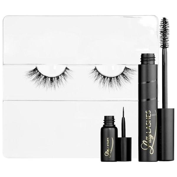 <p>Up your glam quotient with the <span>Lilly Lashes Triple the Glam Eyelash Kit</span> ($34).</p>