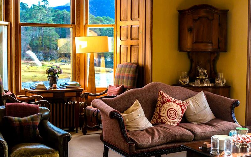 The tea room in the estate provides magnificent views throughout every corner. | Talia Avakian