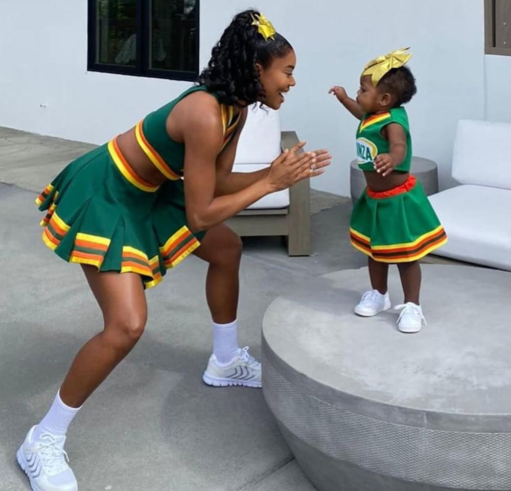 "Brr, it's cute in here! There must be some <a href=""https://www.instagram.com/kaaviajames/"">#shadybaby</a> in the atmosphere! Gabrielle gets back into her <em>Bring It On </em>uniform - and picks out a pint-size version for her nearly one-year-old daughter - <a href=""https://people.com/parents/gabrielle-union-daughter-kaavia-matching-bring-it-on-costumes/"">to recreate scenes from the iconic 2000 film</a>."