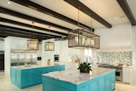 """<p>Hill is also championing statement-making backsplashes in the kitchen. """"Large-scale backsplashes will continue to be popular, and the designs will get more elaborate and serve as art and focal points,"""" he predicts. """"I see them being mixed with unique statement lighting and textures.""""</p>"""