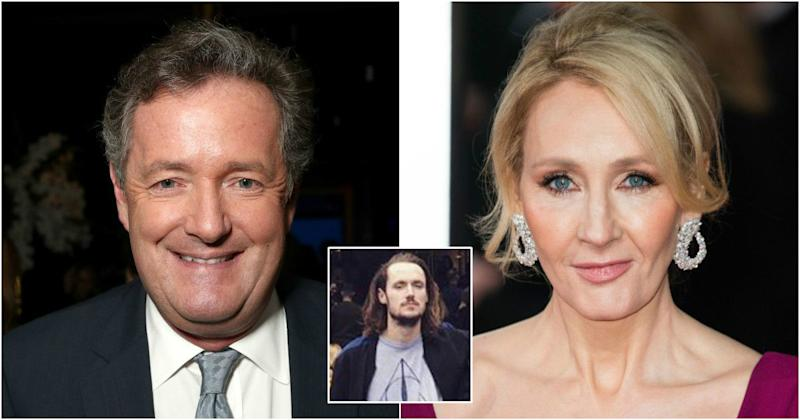 Piers Morgan disowns his son after he sides with JK Rowling (Copyright: Getty/Todd Williamson/Jeff Spicer/Twitter)