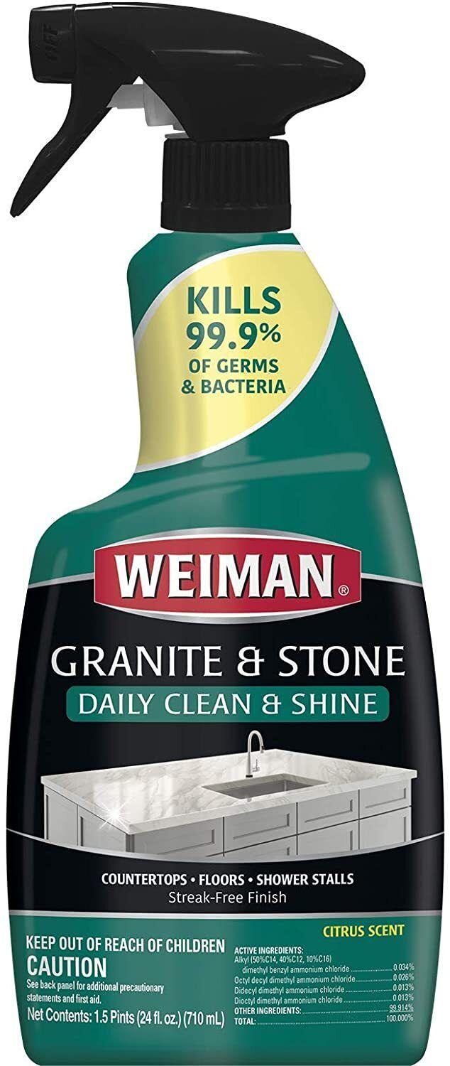 """Notonly will this product have your countertops looking ready for the pages of Architectural Digest, but it also kills 99.9% of germs and bacteria.<br /><br /><strong>Promising review:</strong>""""This is my go-to granite cleaner and I've tried a lot! Actually gets counters clean without a film or streak and not a lot of elbow grease."""" — <a href=""""https://www.amazon.com/gp/customer-reviews/R13AS4KYTYDAKP?&linkCode=ll2&tag=huffpost-bfsyndication-20&linkId=513ae14fe5cdcc7ddb0a0dbc01bd5791&language=en_US&ref_=as_li_ss_tl"""" target=""""_blank"""" rel=""""noopener noreferrer"""">Lori</a><br /><br /><strong><a href=""""https://www.amazon.com/Weiman-109-Polish-24-Ounces-Non-Enhances/dp/B00H341S5C?&linkCode=ll1&tag=huffpost-bfsyndication-20&linkId=99980e15f670871ea20341a9c2854b07&language=en_US&ref_=as_li_ss_tl"""" target=""""_blank"""" rel=""""noopener noreferrer"""">Get it from Amazon for $5.99.</a></strong>"""