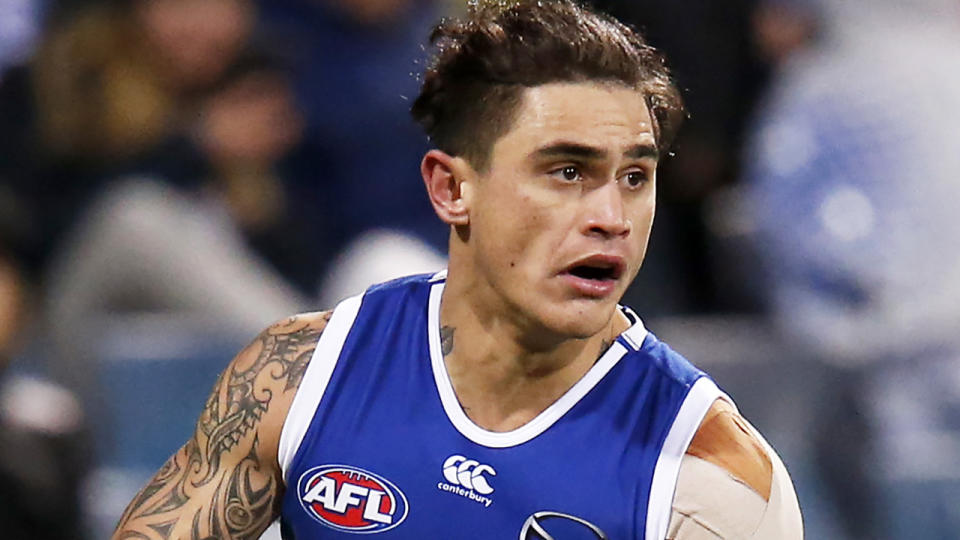Now de-listed former North Melbourne defender Marley Williams has described the club's 2020 season as a 'shambles'. (Photo by Darrian Traynor/Getty Images)