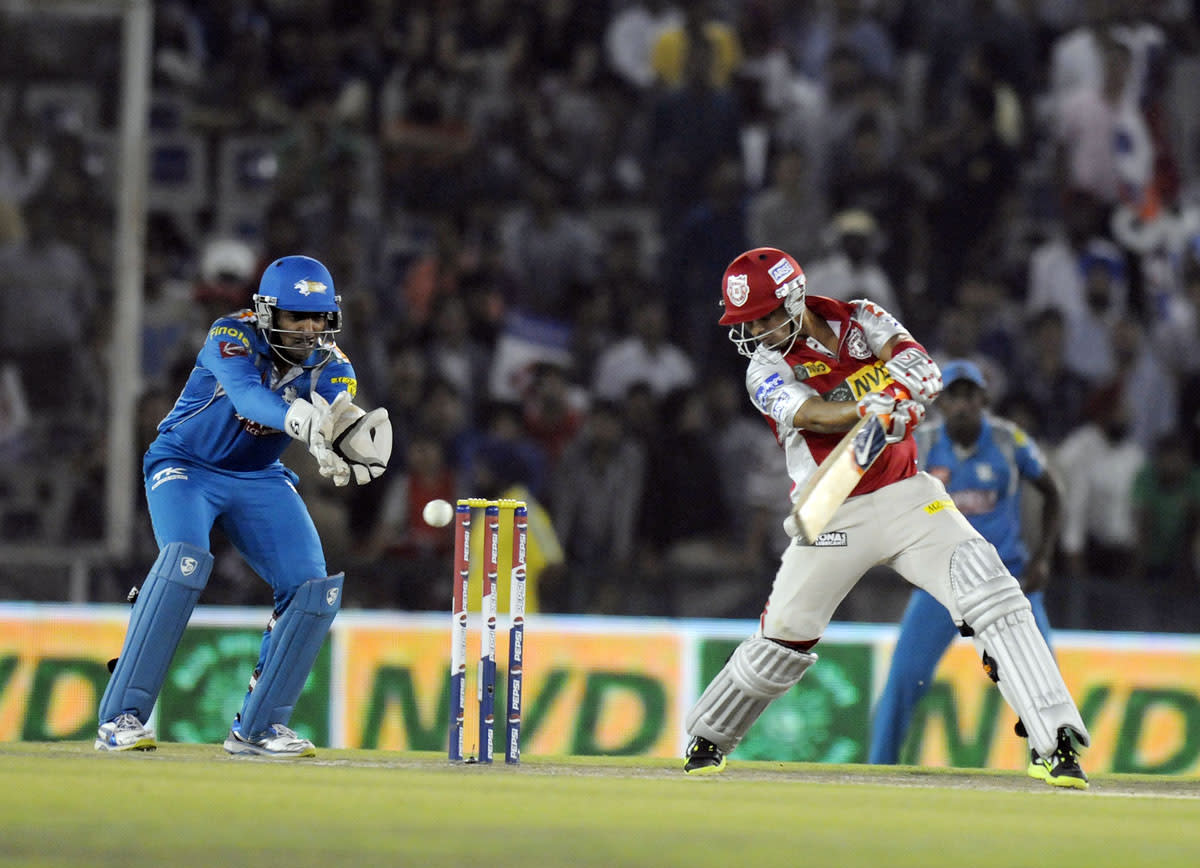 Mandeep Singh of Kings XI Punjab bats during match 29 of the Pepsi Indian Premier League between The Kings XI Punjab and the Pune Warriors held at the PCA Stadium, Mohali, India  on the 21st April 2013. (BCCI)
