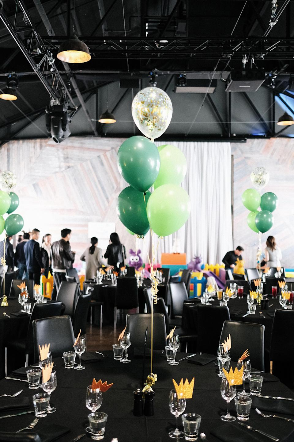 She hired a waterfront Melbourne restaurant and kitted it out with balloons and handcrafted decorations. Source: Supplied/JackieLam