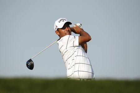 Golf - Abu Dhabi HSBC Golf Championship - Abu Dhabi Golf Club, United Arab Emirates - 23/1/16 Spain's Pablo Larrazabal in action during the third round. Action Images via Reuters / Paul Childs