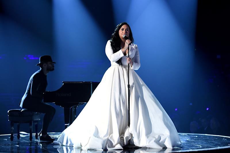 Demi Lovato canta 'Anyone' en los Grammy 2020. (Foto: John Shearer / Getty Images)