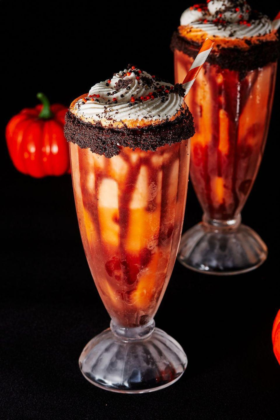 """<p>Getting excited for Halloween? Get the party started early with these delicious (and boozy) shakes! </p><p>Get the <a href=""""https://www.delish.com/uk/cocktails-drinks/a37513177/boozy-screamsicle-shakes-recipe/"""" rel=""""nofollow noopener"""" target=""""_blank"""" data-ylk=""""slk:Boozy Screamsicle Shake"""" class=""""link rapid-noclick-resp"""">Boozy Screamsicle Shake</a> recipe.</p>"""