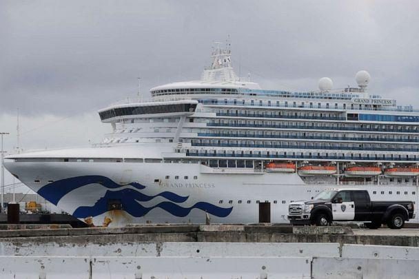 PHOTO: The Grand Princess cruise ship is shown docked at the Port of Oakland in Oakland, California, U.S., March 15, 2020. (Jeff Chiu/AP)