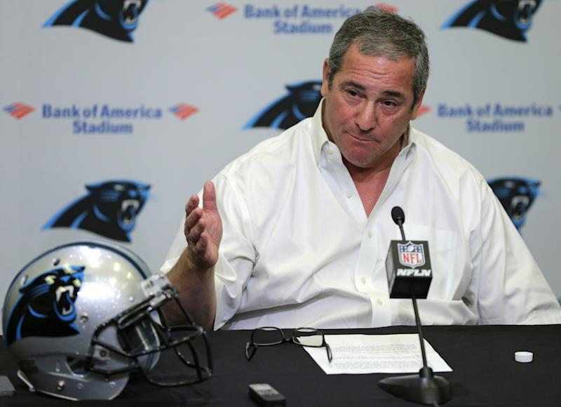 Just eight days before the start of training camp, Dave Gettleman is out as Panthers GM. (AP)