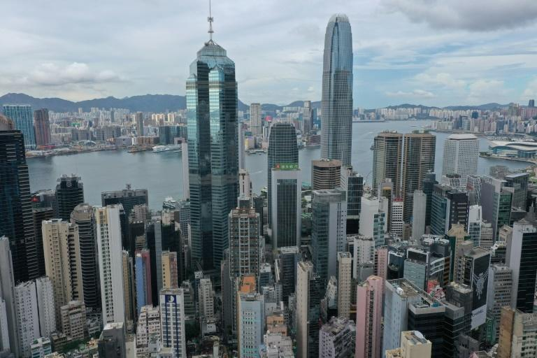 The United States is warning of growing risks to businesses in Hong Kong, seen in May 2021