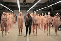 <p>Easily one of the most controversial shows at New York fashion week, the singer/rapper knows how to stir the pot whether it's with his music or his fashion. <i>(Photo by Randy Brooke/Getty Images for Kanye West Yeezy)</i></p>