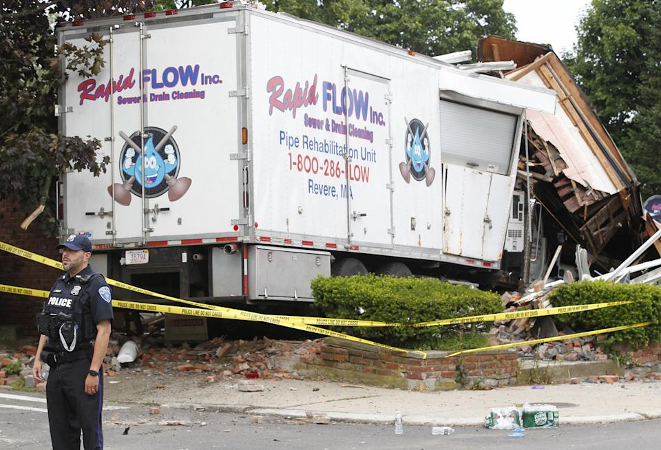 The truck Allen stole and crashed into a home