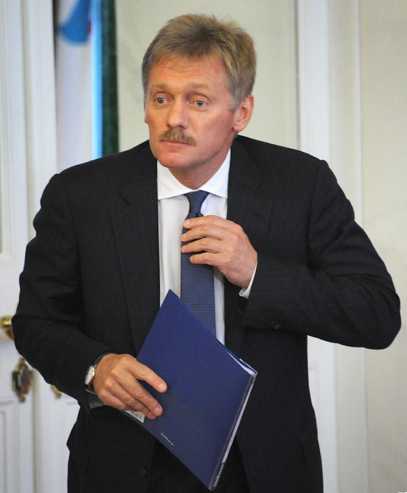 "Kremlin spokesman Dmitry Peskov, seen in 2013, said deals that could help end the conflict in Syria were ""unlikely"" to be struck in Astana because ""too many parties are involved in the process"" (AFP Photo/Alexander NEMENOV)"