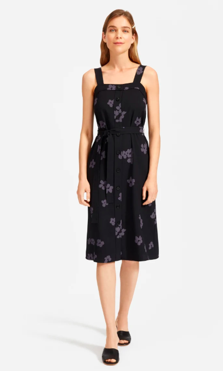 Made with the brand's signature lightweight and breathable Japanese GoWeave fabric, this wrinkle-resistant dress is travel-friendly. (Photo: Everlane)
