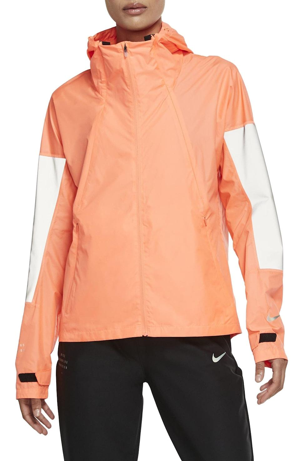 <p>Early morning hikes will be made warmer by this <span>Nike Run Division Flash Running Jacket</span> ($175).</p>