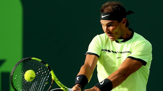 A four-time runner-up at the Miami Open, Rafael Nadal began his 2017 campaign with a straight-sets triumph over Dudi Sela.
