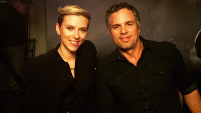 Image result for mark ruffalo scarlett johansson