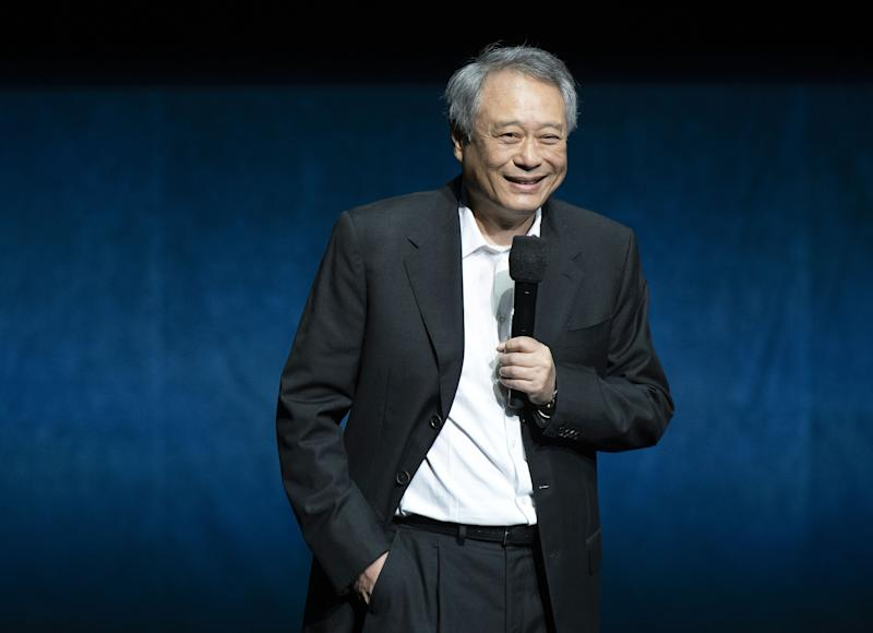 Ang Lee appears on stage during the CinemaCon Paramount Pictures Exclusive Presentation on April 4, 2019. (Credit: Valerie Macon/AFP/Getty Images)