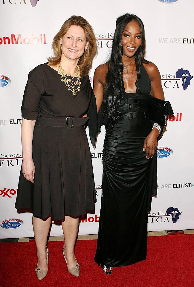 "Supermodel Naomi Campbell poses for a picture with her pal, Sarah Brown, the wife of British Prime Minister Gordon Brown. Jesse Grant/<a href=""http://www.wireimage.com"" target=""new"">WireImage.com</a> - April 21, 2009"