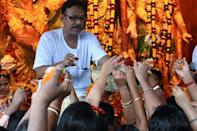 The Indian government has asked state authorities to be vigilant to prevent another Covid-19 surge because of the festivals (AFP/DIBYANGSHU SARKAR)