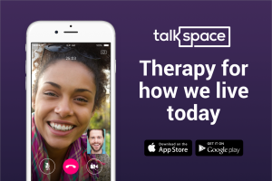 </a> Talkspace users can video chat with therapists.