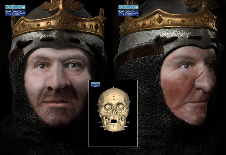 Scientists and historians have joined forces to create detailed virtual images of what could be the head of Robert the Bruce
