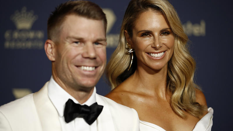 David and Candice Warner, pictured here at the Cricket Australia Awards in February.