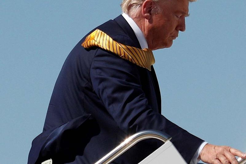 US President Donald Trump boards Air Force One: REUTERS