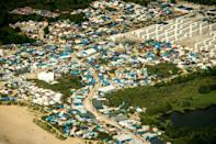 """Between 7,000 and 10,000 migrants currently live in the sprawling Calais """"Jungle"""" camp"""
