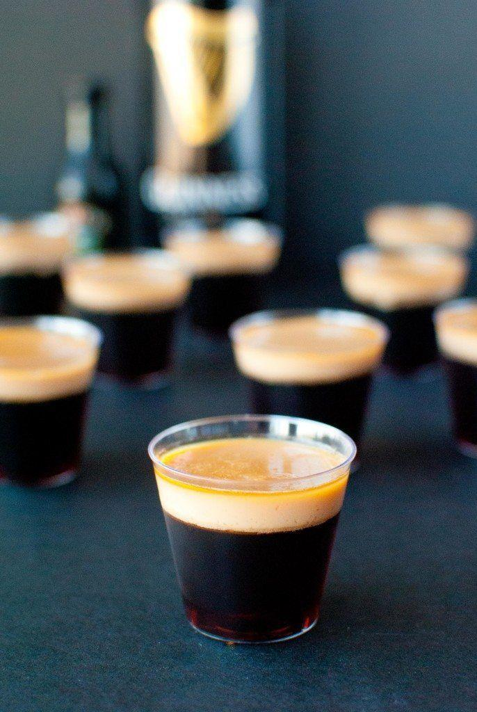 """<p>Sometimes, you just gotta skip the cocktails and go straight for shots.</p><p>Get the recipe from <a href=""""http://slimpickinskitchen.com/baby-guinness-jello-shots/"""" rel=""""nofollow noopener"""" target=""""_blank"""" data-ylk=""""slk:Slim Pickin's Kitchen"""" class=""""link rapid-noclick-resp"""">Slim Pickin's Kitchen</a>.</p>"""