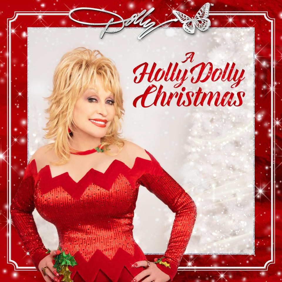 """This cover image release by Butterfly Records shows """"A Holly Dolly Christmas"""" by Dolly Parton. (Butterfly Records via AP)"""