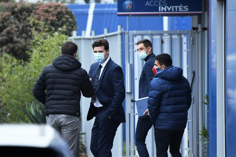 Pochettino took training at PSG's Camp des Loges base on Tuesday before his first press conference