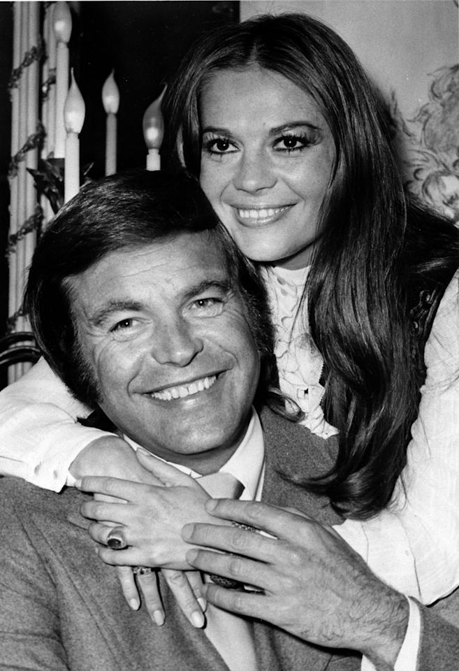 FILE - In this April 23, 1972 file photo, actor Robert Wagner and actress Natalie Wood pose at the Dorchester Hotel in London. Los Angeles sheriff's homicide detectives are taking another look at Wood's 1981 drowning death based on new information, officials announced Thursday, Nov. 17, 2011. A yacht captain said on national TV Friday, Nov. 18, 2011, that he lied to investigators about Natalie Wood's mysterious death 30 years ago and blames Wagner for her drowning in the ocean off Southern California. (AP Photo, File)
