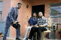 "<p><strong>Cast: </strong>Ice Cube, Chris Tucker, John Witherspoon, Mike Epps, Nia Long, Regina King, Bernie Mac</p><p>Heard of the phrase ""Bye, Felicia?"" You've got <em>Friday—</em>and Ice Cube—to thank for that.The rapper penned this four film franchise that takes us along on an eventful Friday in South Central L.A. Two best friends owe money to the neighborhood drug dealer by the end of the day. As the time grows closer and closer to their deadline, they run into a variety of obnoxious neighborhood characters. </p><p><a class=""link rapid-noclick-resp"" href=""https://www.amazon.com/Friday-Ice-Cube/dp/B0070YR5MU?linkCode=ogi&tag=syn-yahoo-20&ascsubtag=%5Bartid%7C10072.g.34125298%5Bsrc%7Cyahoo-us"" rel=""nofollow noopener"" target=""_blank"" data-ylk=""slk:WATCH NOW"">WATCH NOW</a></p>"
