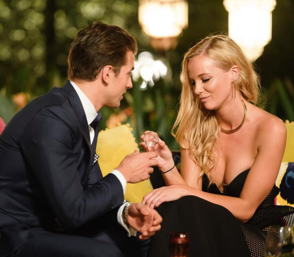 Leah Cost with Matty J on the Bachelor 2017