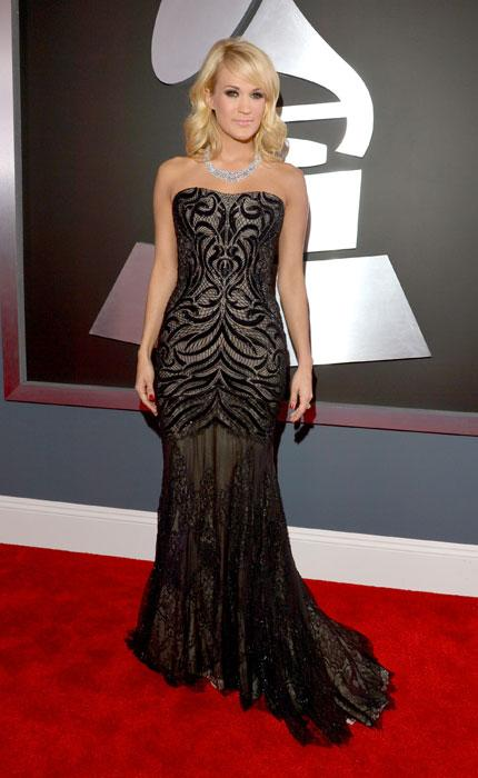 Singer Carrie Underwood attends the 55th Annual GRAMMY Awards at STAPLES Center on February 10, 2013 in Los Angeles, California. (Photo by Lester Cohen/WireImage)