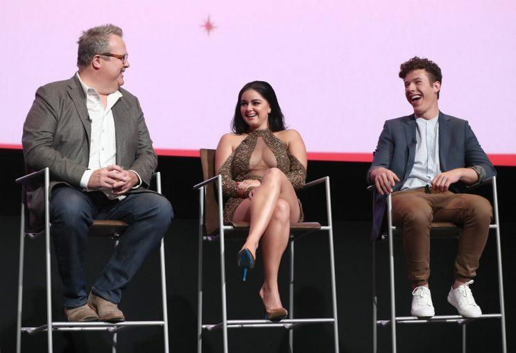 Ariel Winter on the panel with Eric Stonestreet and Nolan Gould.