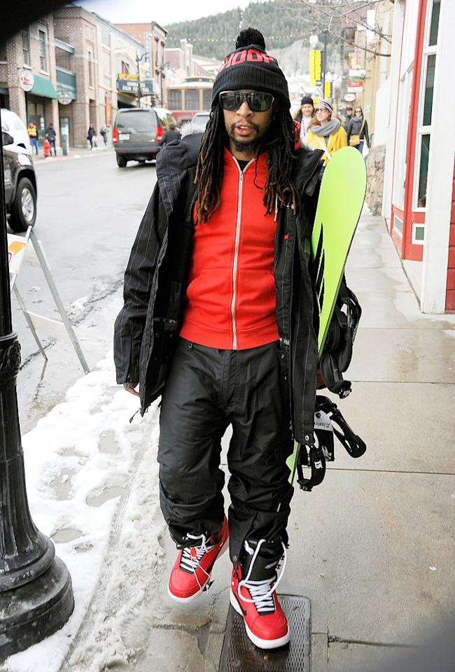Lil Jon is seen out and about during the 2012 Sundance Film Festival in Park City, Utah on January 22, 2012.