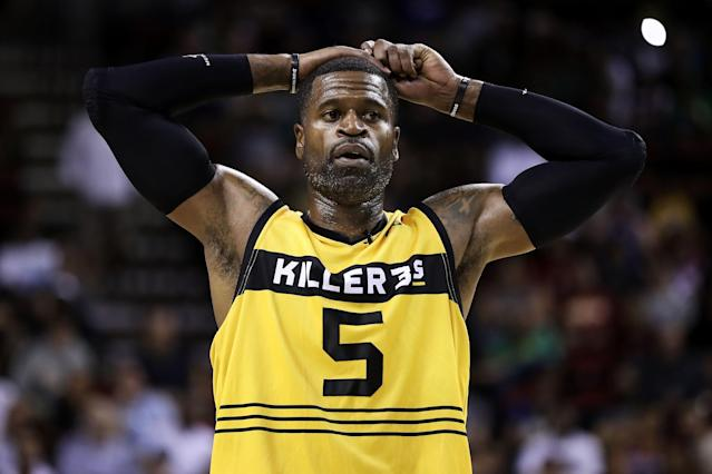 Stephen Jackson may be retired, but he is always ready for a fight. (Photo by Christian Petersen/BIG3/Getty Images)