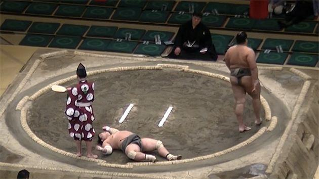 Down for the count. Pic: Sumo Channel
