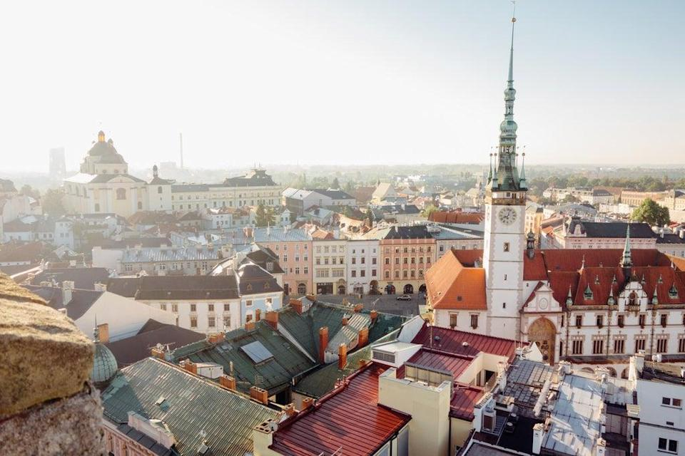 The spires and tiled rooftops of Olomouc in the Czech Republic (Getty Images/iStockphoto)