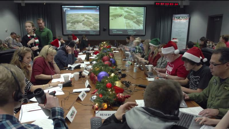 FILE PHOTO: NORAD tracks Santa as he starts his journey as shown in this handout photo provided by North American Aerospace Defense Command Santa Tracker