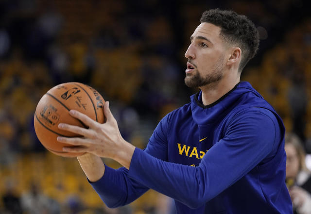 Warriors shooting guard Klay Thompson hopes to play in the 2020 Tokyo Olympics. (AP Photo/Tony Avelar)