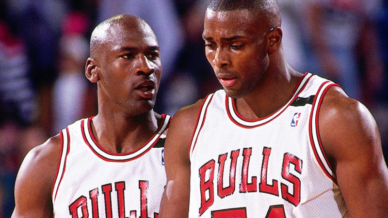 Michael Jordan and Horace Grant, pictured here in 1992.