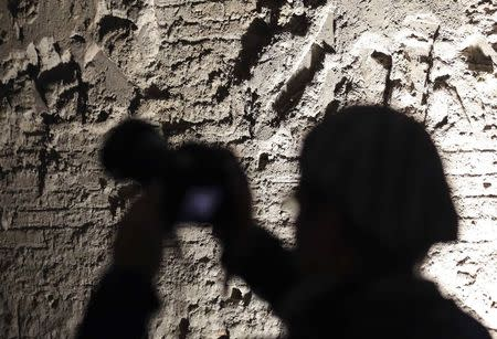 A photographer takes a picture inside the Domus Aurea (House of Gold) complex in Rome, October 24, 2014. REUTERS/Stefano Rellandini