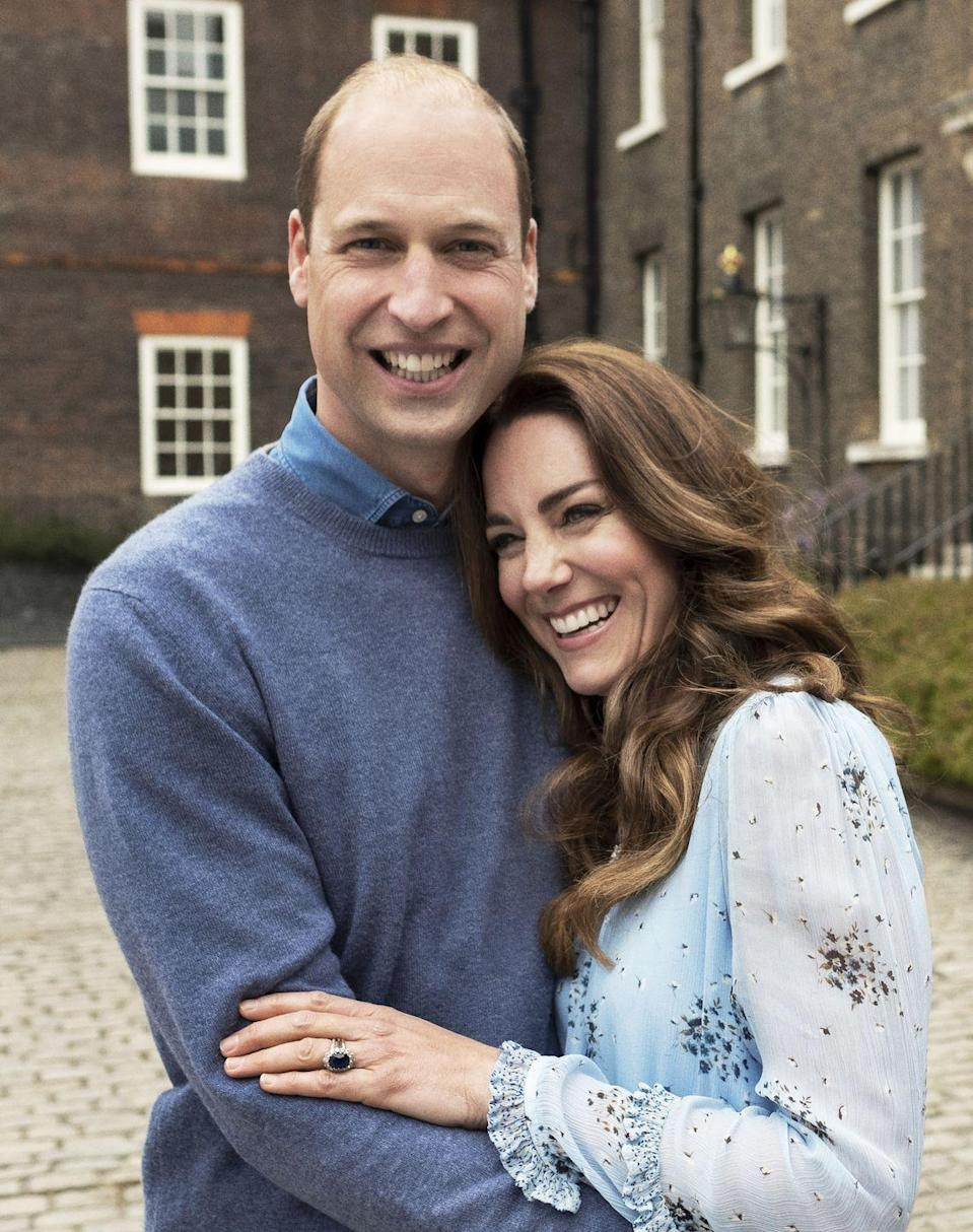 "<p>In honor of their tenth wedding anniversary, William and Kate released <a href=""https://www.townandcountrymag.com/society/tradition/a36279967/kate-middleton-prince-william-tenth-wedding-anniversary-photos/"" rel=""nofollow noopener"" target=""_blank"" data-ylk=""slk:two sweet new photos"" class=""link rapid-noclick-resp"">two sweet new photos</a> of them as a couple taken at Kensington Palace.</p>"