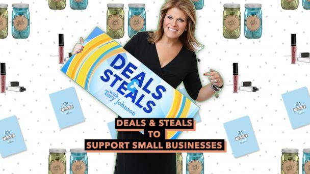 PHOTO: Deals and Steals to Support Small Businesses (ABC News Photo Illustration, Caren, Modern Sprout, The Adventure Challenge)