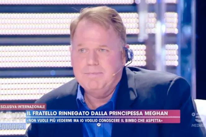 The 52-year-old previously appeared on the Live Non E La D'Urso show in Italy, to tell a then pregnant duchess that he loves her and he wants their family to be reunited. Photo: Live Non E La D'Urso